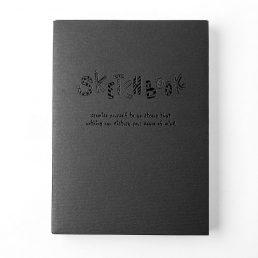 Black Simple Sketch Drawing Notebook