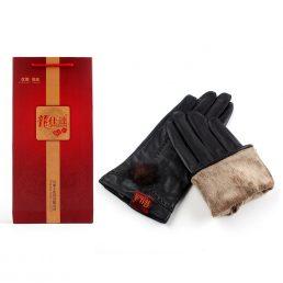 Women Sheep Skin Leather Gloves 1pair
