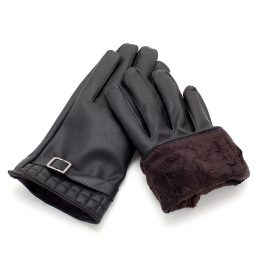 Soft Leather Warm Gloves 1pair