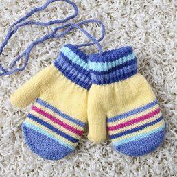 Polapolis Fabric Warm Kids Mittens 1pair
