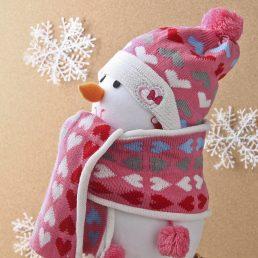 Cute Warm Beanie Hat and Scarf Set
